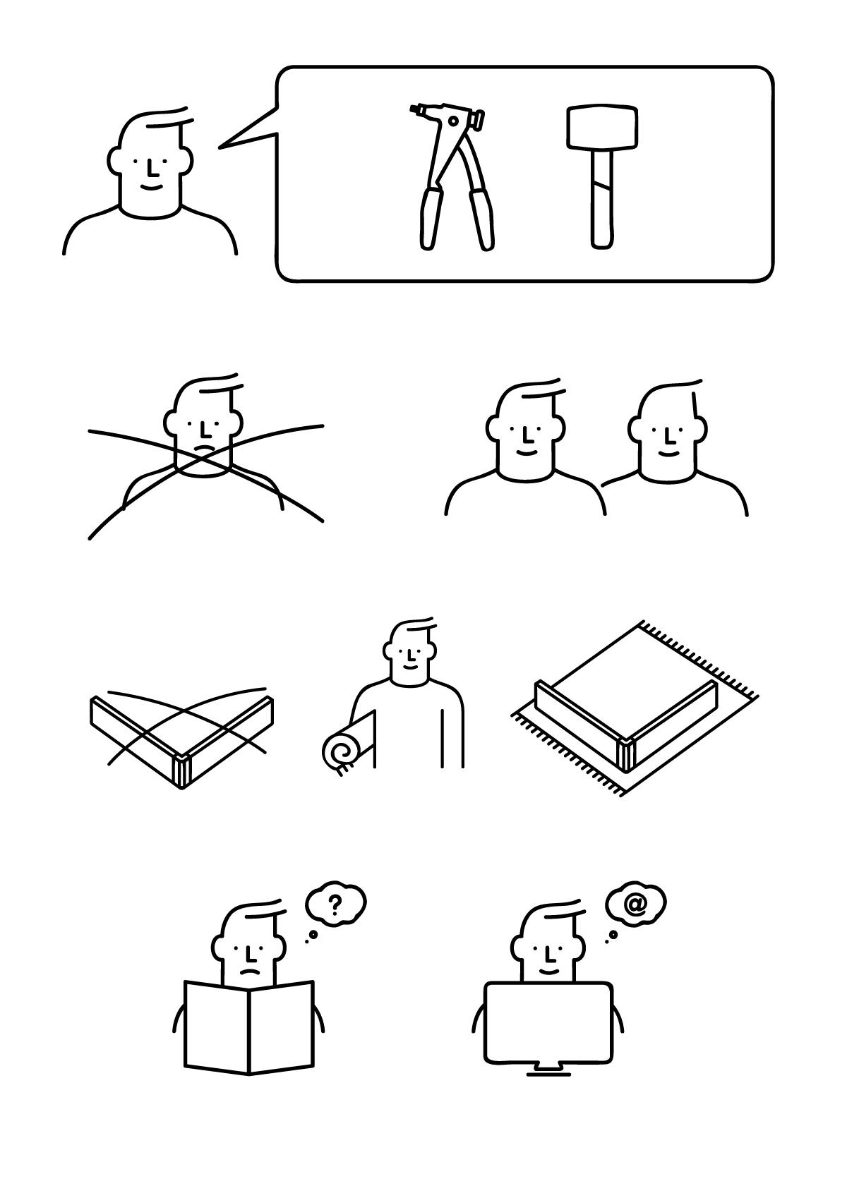 Instruction Illustration May Man Portfolio